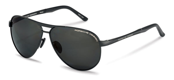 Driving Optics A-Black with Grey Polarized Driving Lenses / 62-10-140 Large Size P8649 Porsche Design Sunglasses