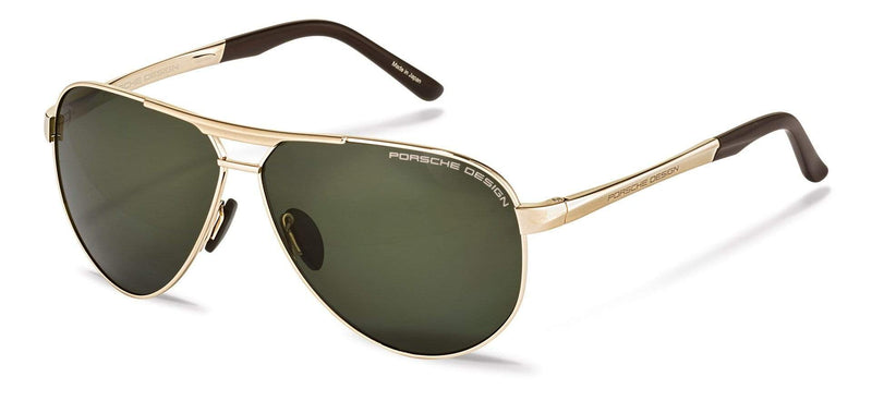 Driving Optics B-Gold with Grey-Green Polarized Driving Lenses / 62-10-140 Large Size P8649 Porsche Design Sunglasses