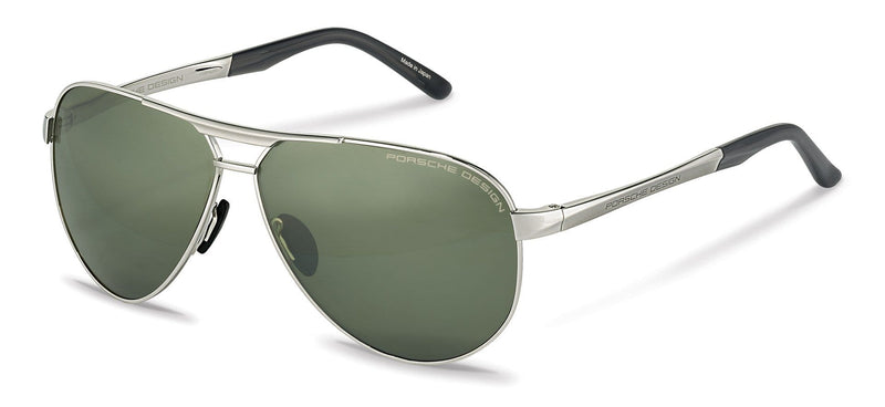 Driving Optics C-Palladium with 2 Lens Pairs: Olive & Silver Mirrored / 62-10-140 Large Size P8649 Porsche Design Sunglasses