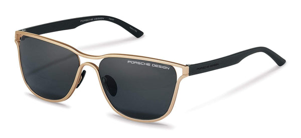 Driving Optics D-Gold with Grey Lenses / 58-16-140 Large Size P8647 Porsche Design Sunglasses