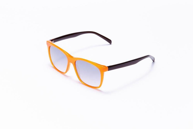 Formula 1 Eyewear Sunglasses Fire Orange & Black with Blue Gradient Driving Lenses / 55-15-145 Large Size Formula 1 Accelerate Sunglasses - Available for Pre-Order 12/1/2020