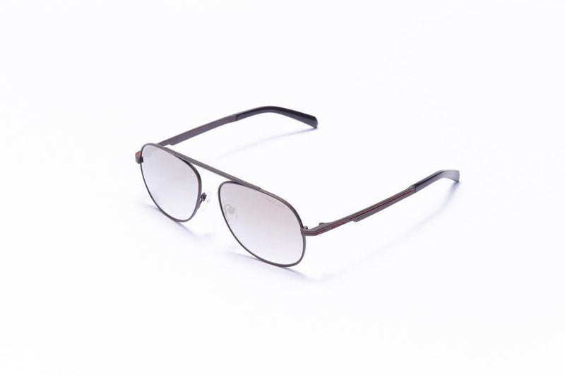 Formula 1 Eyewear Sunglasses Grey with Grey Lenses / 56-16-145 Large Size Formula 1 Blind Curve Sunglasses - Available for Pre-Order 12/1/2020