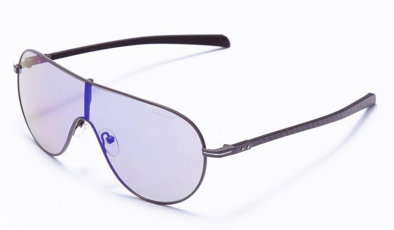 Formula 1 Eyewear Sunglasses Gunmetal with Blue High-Definition Lenses / 129-142 Large Size Formula 1™ Hospitality Sunglasses