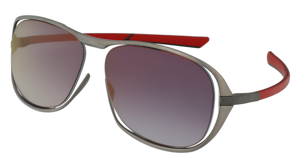McLaren Eyewear Sunglasses Pure Brushed Front with Red/Black Temples & Urban Grey/Red Flash Lenses McLaren Ultimate S01 3-D Titanium Printed Sunglasses