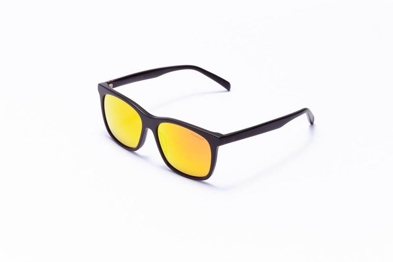 Motor Optics Sunglasses Black with Yellow Flash Mirror Lenses / 55-15-145 Large Size Formula 1 Accelerate Sunglasses - Available for Pre-Order 12/1/2020