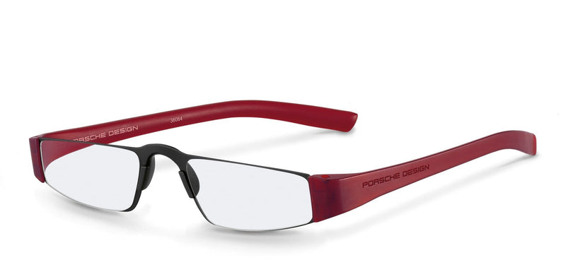Porsche Design Reading Glasses B-Black & Red / +1.50 Diopter P8801 Porsche Design Reading Glasses