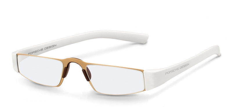 Porsche Design Reading Glasses C-Gold & White (Special Order) / +1.50 Diopter P8801 Porsche Design Reading Glasses