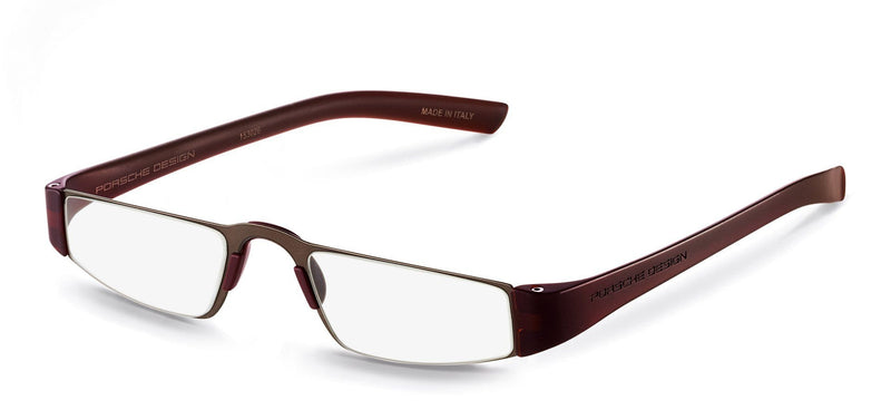 Porsche Design Reading Glasses E-Sand & Brown / +1.50 Diopter P8801 Porsche Design Reading Glasses