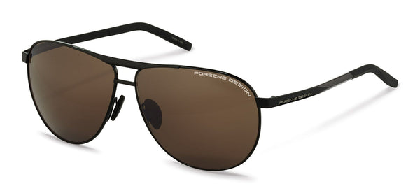 Porsche Design Sunglasses A-Black with Brown Lenses / 62-11-140 Large Size P8642 Porsche Design Sunglasses