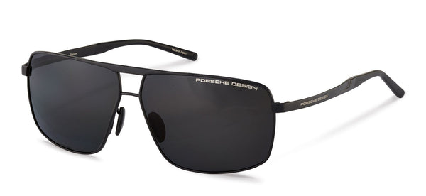 Porsche Design Sunglasses A-Black with Grey Polarized Driving Lenses / 64-11-140 Large Size P8658 Porsche Design Sunglasses