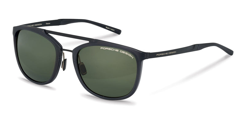 Porsche Design Sunglasses A-Black with SunPolarized Green Driving Lenses / 55-20-140 Small Size P8671 Porsche Design Sunglasses