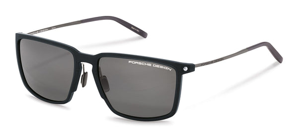 Porsche Design Sunglasses A-Black with SunPolarized Grey Driving Lenses / 57-17-145 Medium Size P8661 Porsche Design Sunglasses