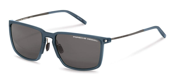 Porsche Design Sunglasses B-Blue with SunPolarized Grey Driving Lenses / 57-17-145 Medium Size P8661 Porsche Design Sunglasses