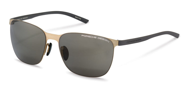 Porsche Design Sunglasses B-Gold with Grey Lenses / 60-16-135 Medium Size P8659 Porsche Design Sunglasses