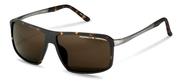 Porsche Design Sunglasses B-Havana with Brown Lenses / 60-12-135 Medium Size P8650 Porsche Design Sunglasses