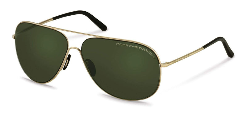 Porsche Design Sunglasses B-Light Gold with Green Lenses / 64-12-140 Large Size P8605 Porsche Design Sunglasses