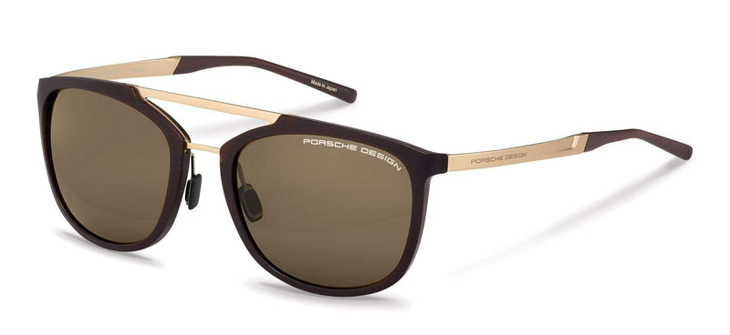 Porsche Design Sunglasses C-Brown with Brown Lenses / 55-20-140 Small Size P8671 Porsche Design Sunglasses