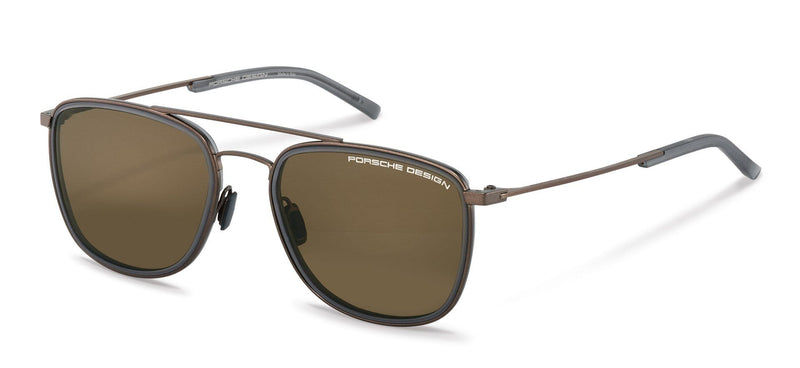 Porsche Design Sunglasses C-Brown with Grey/Brown Lenses / 56-19-145 Medium Size P8692 Porsche Design Sunglasses