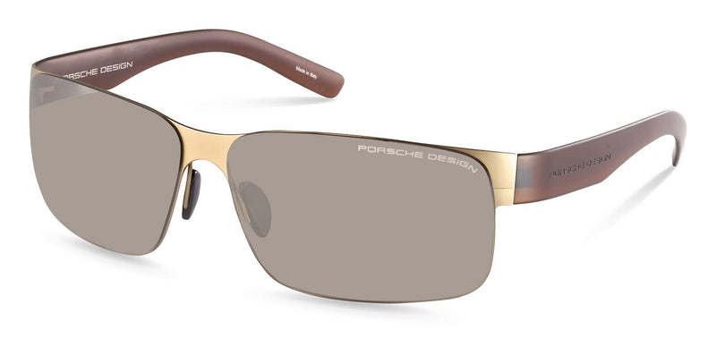 Porsche Design Sunglasses C-Gold with Brown Gradient Lenses / 63-13-135 Large Size P8573 Porsche Design Sunglasses