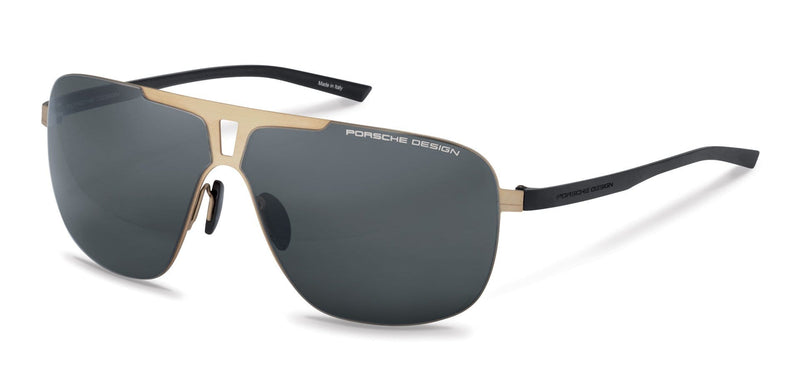 Porsche Design Sunglasses C-Gold with Grey/Blue Lenses / 67-08-135 Extra Large Size P8655 Porsche Design Sunglasses