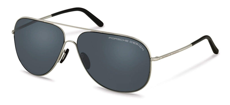 Porsche Design Sunglasses C-Palladium with Grey-Blue Lenses / 64-12-140 Large Size P8605 Porsche Design Sunglasses