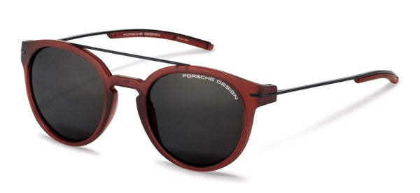 Porsche Design Sunglasses C-Red with Grey Polarized Lenses / 50-21-140 P8644 Porsche Design Sunglasses