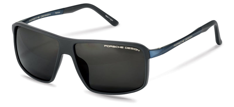 Porsche Design Sunglasses D-Dark Grey with Grey Polarized Driving Lenses / 60-12-135 Medium Size P8650 Porsche Design Sunglasses