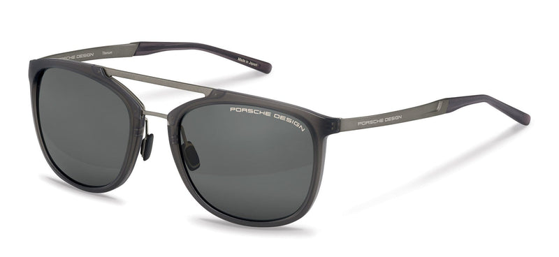 Porsche Design Sunglasses D-Grey with SunPolarized Grey Driving Lenses / 55-20-140 Small Size P8671 Porsche Design Sunglasses