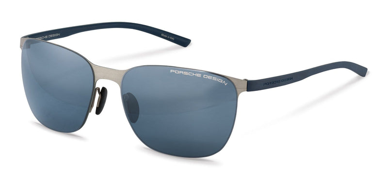 Porsche Design Sunglasses D-Silver with Blue Lenses / 60-16-135 Medium Size P8659 Porsche Design Sunglasses