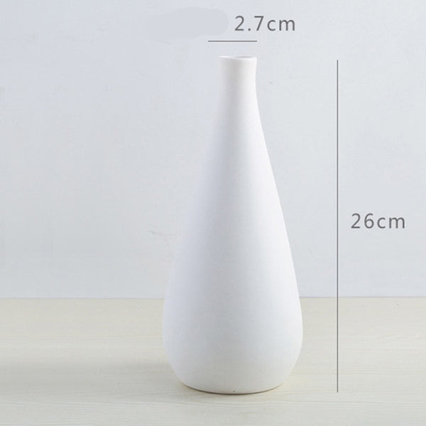 Nordic Modern Simple Ceramic Vase Tabletop Black White Dried Flower Containers Home Decor Desktop Decorative Vase  Wedding Gifts