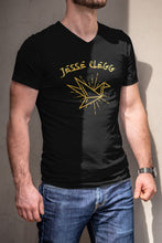 Load image into Gallery viewer, Gold Crane Black T-shirt