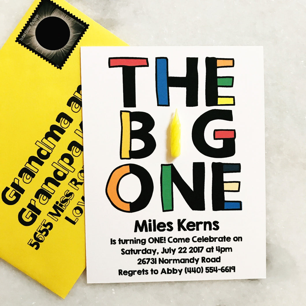 The BIG one Invitation