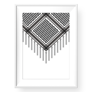 BLACK KEFFIYEH ART PRINT