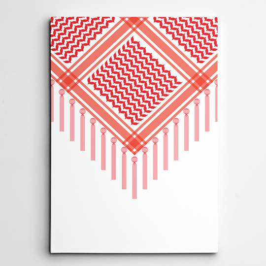 RED KEFFIYEH SCARF ART PRINT