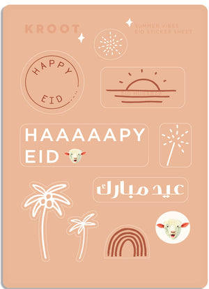 SUMMER VIBES EID STICKER SHEET
