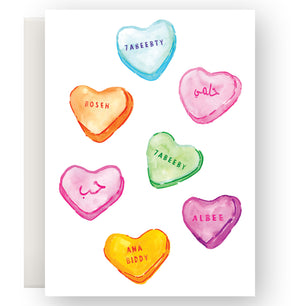 CANDY HEARTS CARD