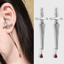 Load image into Gallery viewer, Blood Sworn Dagger Stud Earrings
