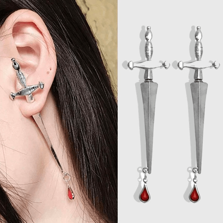 Blood Sworn Dagger Stud Earrings