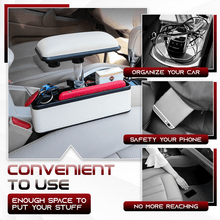 Load image into Gallery viewer, Adjustable Car Armrest Plus Slot Storage Box