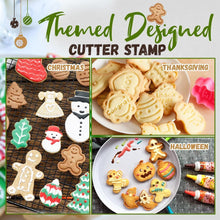 Load image into Gallery viewer, 3D Cookie Cutter Stamp 4-Piece Set