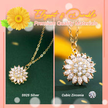 Load image into Gallery viewer, Rotatable Sunflower Pendant Necklace