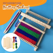 Load image into Gallery viewer, DIY Wooden Wool Knitting Machine