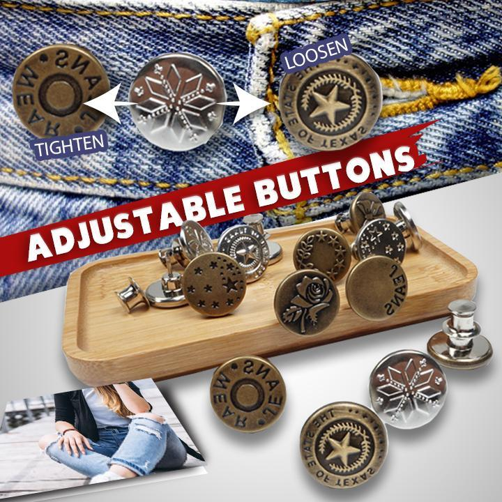 Adjustable No-Sew Jeans Button
