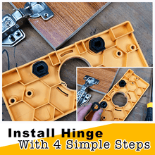 Load image into Gallery viewer, Hinge Drilling Jig Carpentry Set
