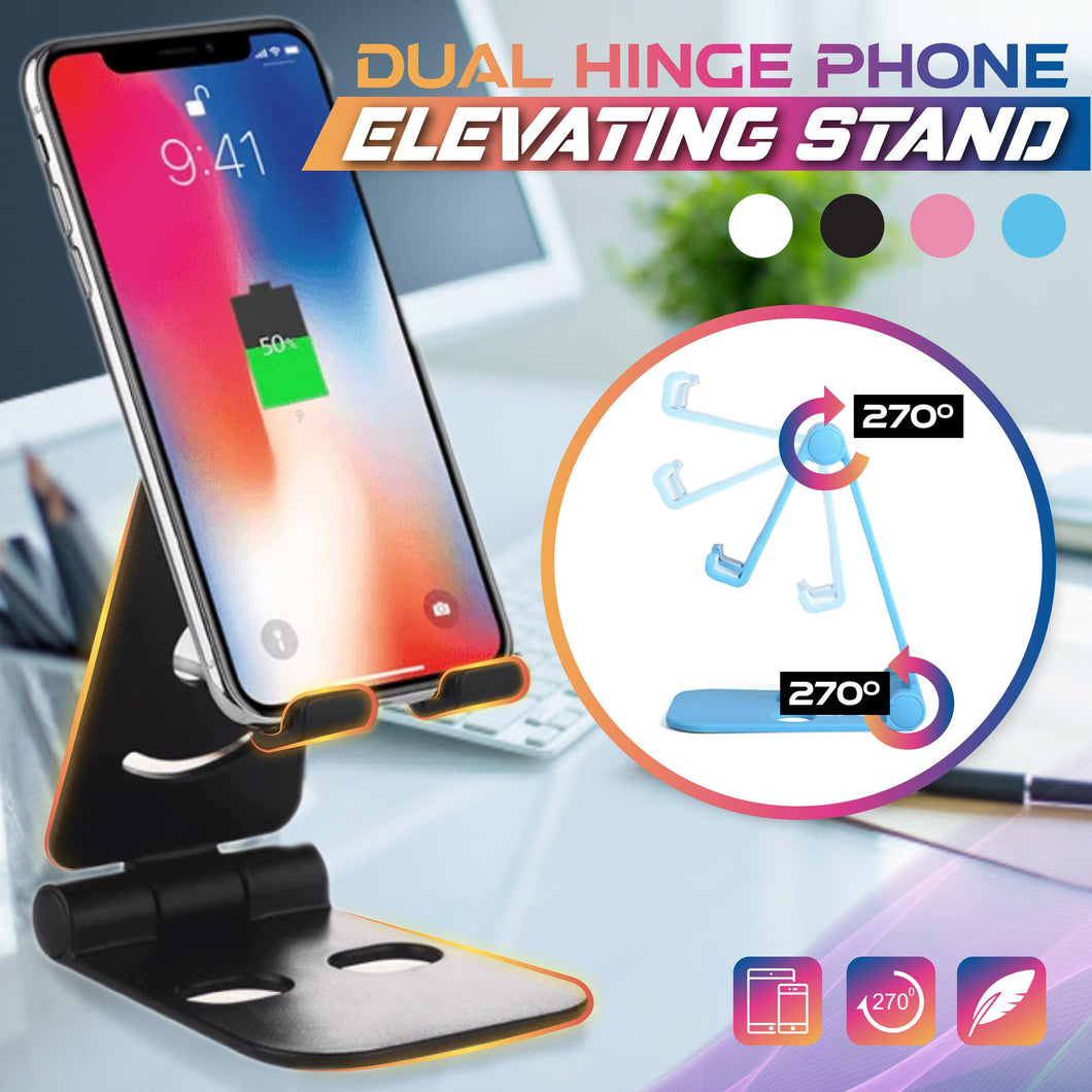 Dual Hinge Phone Elevating Stand