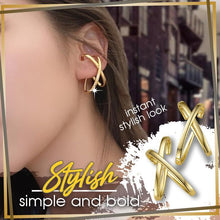 Load image into Gallery viewer, Brilliant Cross-Letter No Pierced Ear Cuff