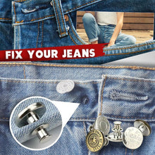 Load image into Gallery viewer, Adjustable No-Sew Jeans Button