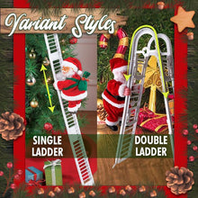 Load image into Gallery viewer, Santa Claus Climbing The Ladder