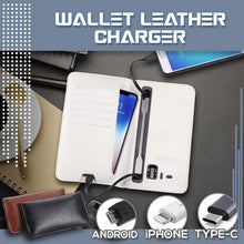 Load image into Gallery viewer, Universal Leather Phone Charging Wallet