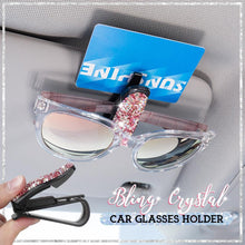Load image into Gallery viewer, Bling Crystal Car Glasses Holder hvashop Pink